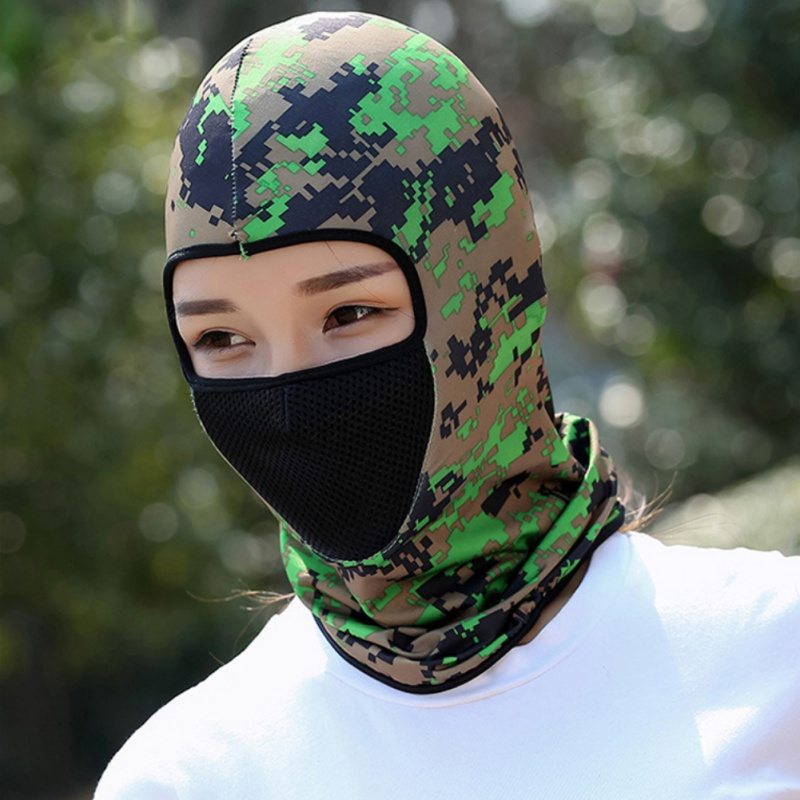 Summer Sports Sunscreen Hood Outdoor Motorcycle Riding Mask Camouflage