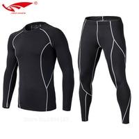 2017 Survetement Homme 2pcs/set Men's Sport Running Suits Quick Dry Basketball Soccer Training Tracksuits Men Gym Clothing Sets