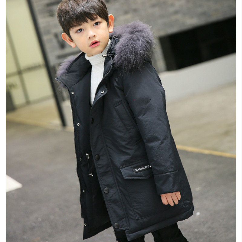 New Children's Down Jacket Boys In Long Thick Jacket Big Boy Winter Fashion Trend columbia big boys lightning lift jacket