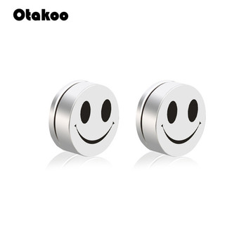 Otakoo Trendy Cartoon Face Cute Stud Earrings No Piercing Magnet Round Fashion Women Men Magnetic Earrings.jpg 350x350 - Earrings For Women