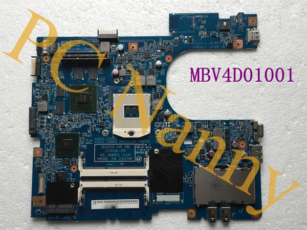 MBV4D01001 48.4NM01.01M For Acer aspire 6593 laptop Motherboard Intel S989 HM65 With graphics card 55.4NM01.101G -- TESTED