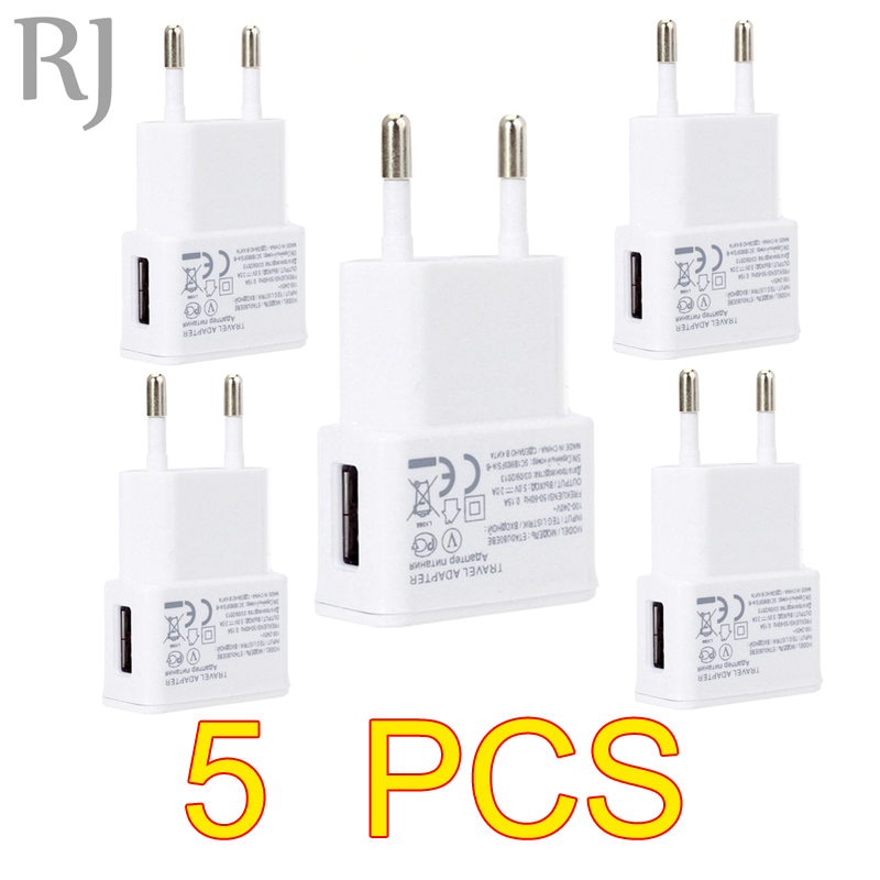 5PCS/lot 5V 2A EU Plug Wall Travel USB Charger Adapter For Samsung galaxy S5 S4 S6 note 3 2 For iphone 7 6 5 4