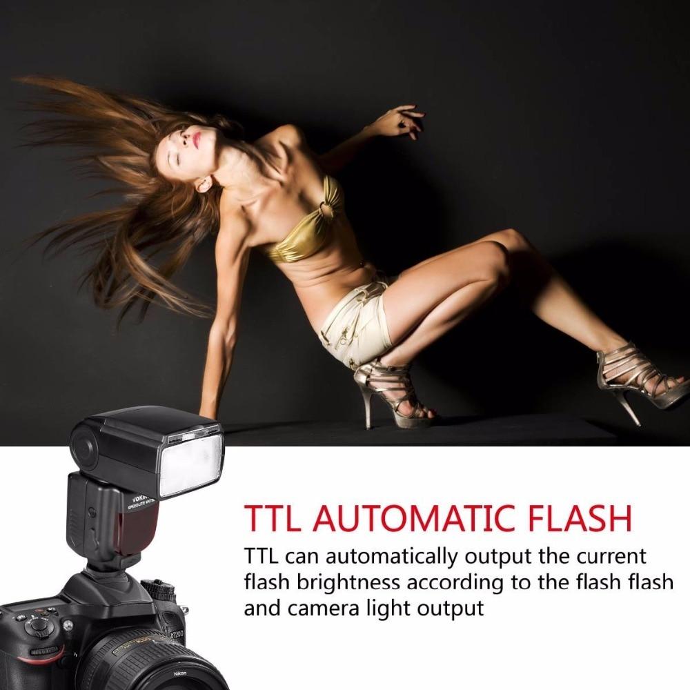 Voking 750III Remote TTL Speedlite Slave Mode Flash with LCD Display for Nikon DSLR Standard Hot Shoe Cameras