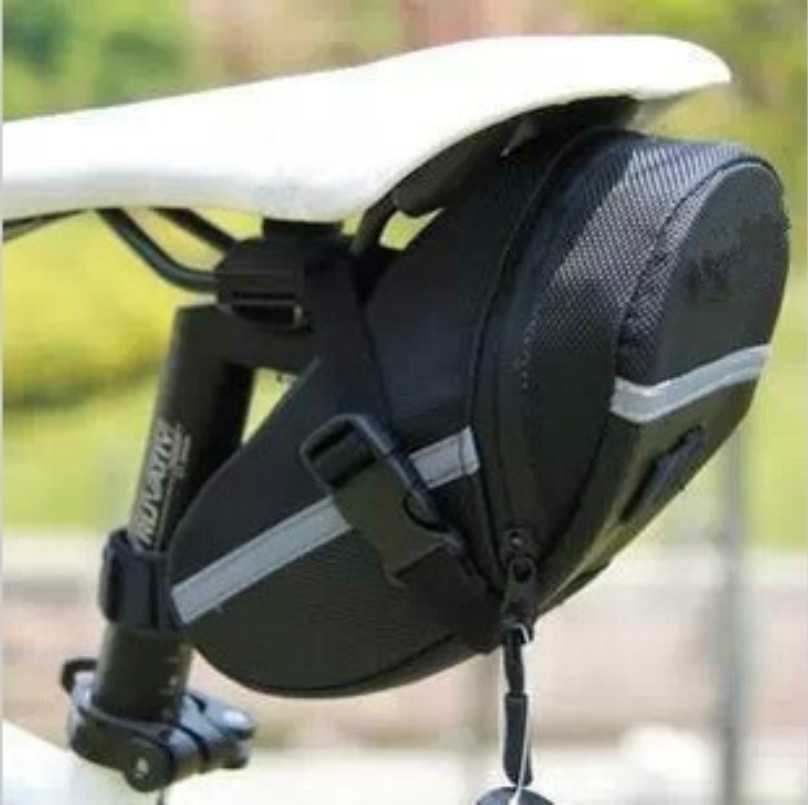 Waterproof Bicycle Saddle <font><b>Bags</b></font>,20cm*8cm*6cm Black Reflective Cycling Seat Tail <font><b>Bag</b></font>,Seatpost Pouch for <font><b>Bike</b></font> Outdoor Accessories image