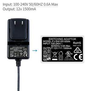 Image 4 - Feelworld DC 12 В 1.5A импульсный источник питания домашний адаптер питания для 100 в 240 В переменного тока 50/60 Гц для Feelworld F570 T7 T756 FW759 FW759P
