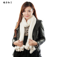 2016 Women 's Scarves Winter thickening cartoon blends solid Hairball fashion large size warm brand scarf adult  200*35