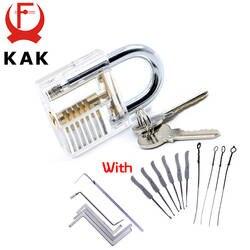 Как прозрачный видимый Палочки слесарное учебное пособие замок с сломанный ключ удаления крюк комплект Extractor набор слесарный ключ