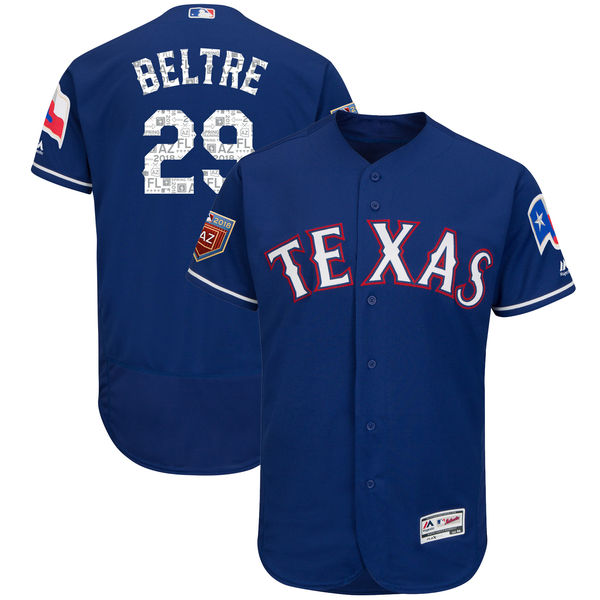 MLB Texas Rangers Ivan Rodriguez Cole Hamels Adrian Beltre 2018 Spring Training Nolan Ry ...