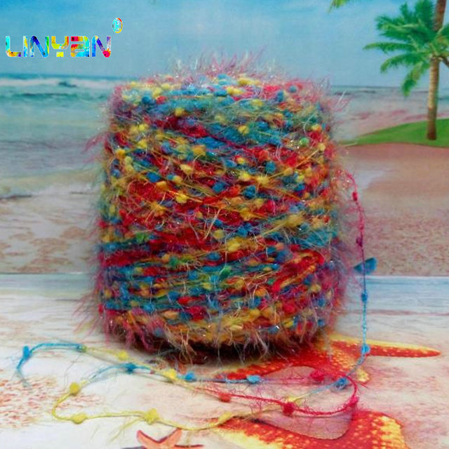 250g Bright Feathers Yarn For Knitting Fashion Pine Tree Hand Woven