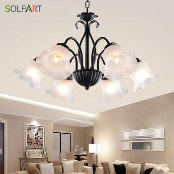Modern Glass Chandeliers Lighting lighting fixtures heracleum For Living Room Bedroom Home Chandelier ceiling Fixtures