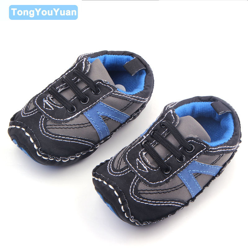 Hign Quality Hard Bottom Three Colors Kids Baby Boy Sports Walking Shoes 0-15 Months