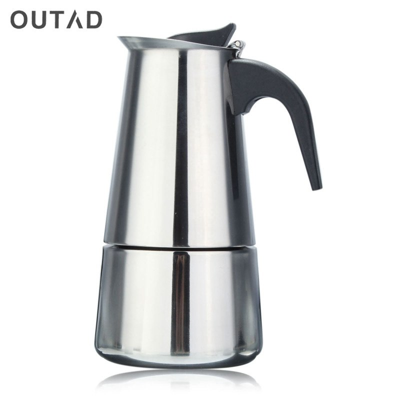 2/4/6 Cups Espresso Coffee Pots Stainless Steel Quality Drip Kettle Tea Pot Moka Coffe Pot Coffee Extractor 100/200/300ml