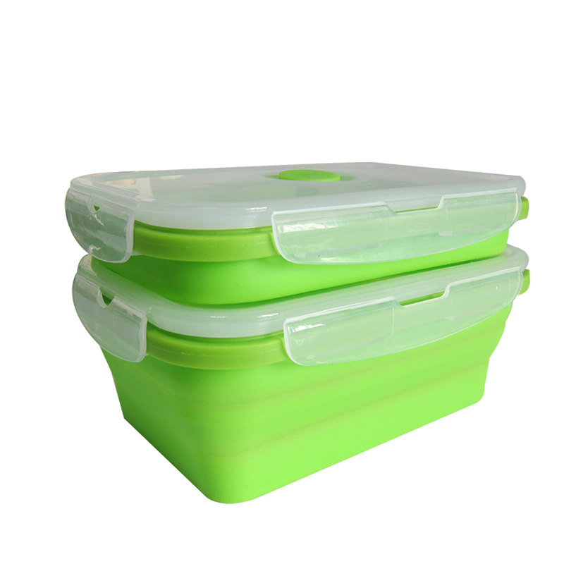 Ttlife silicone collapsible portable lunch box bowl bento for Eco boxes