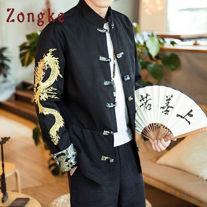 Chinois 2019 Modes Hop Black Hip Dragon Zongke Manteau Hommes Brodée Streetwear Des Style Veste 5xl Bomber dp4q46RA