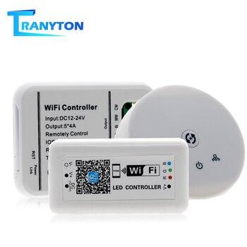 dc12 24v mini rgb rgbw rgbcw wifi led strip controller ir rf remote music time 3ch 4ch 5ch 5v wifi strip controller by phone ap Led Controller MINI WIFI RGB/RGBW/RGB-WW-CW LED Strip Controller DC12-24V Smartphone Magic Home Mini Wifi RGB Smart Controllers