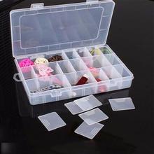 1 * Пластик 24 слотов Регулируемая ювелирные изделия ящик для хранения Дело Craft Организатор Бусины Многофункциональный съемная украшений tslm1