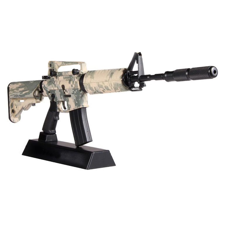 1:3.5 Assemble Metal Toy Gun Model Building Can Not Shoot AWM AK DIY Mini Gun Model For Collection Metal Alloy Gun Toys Boy Gift
