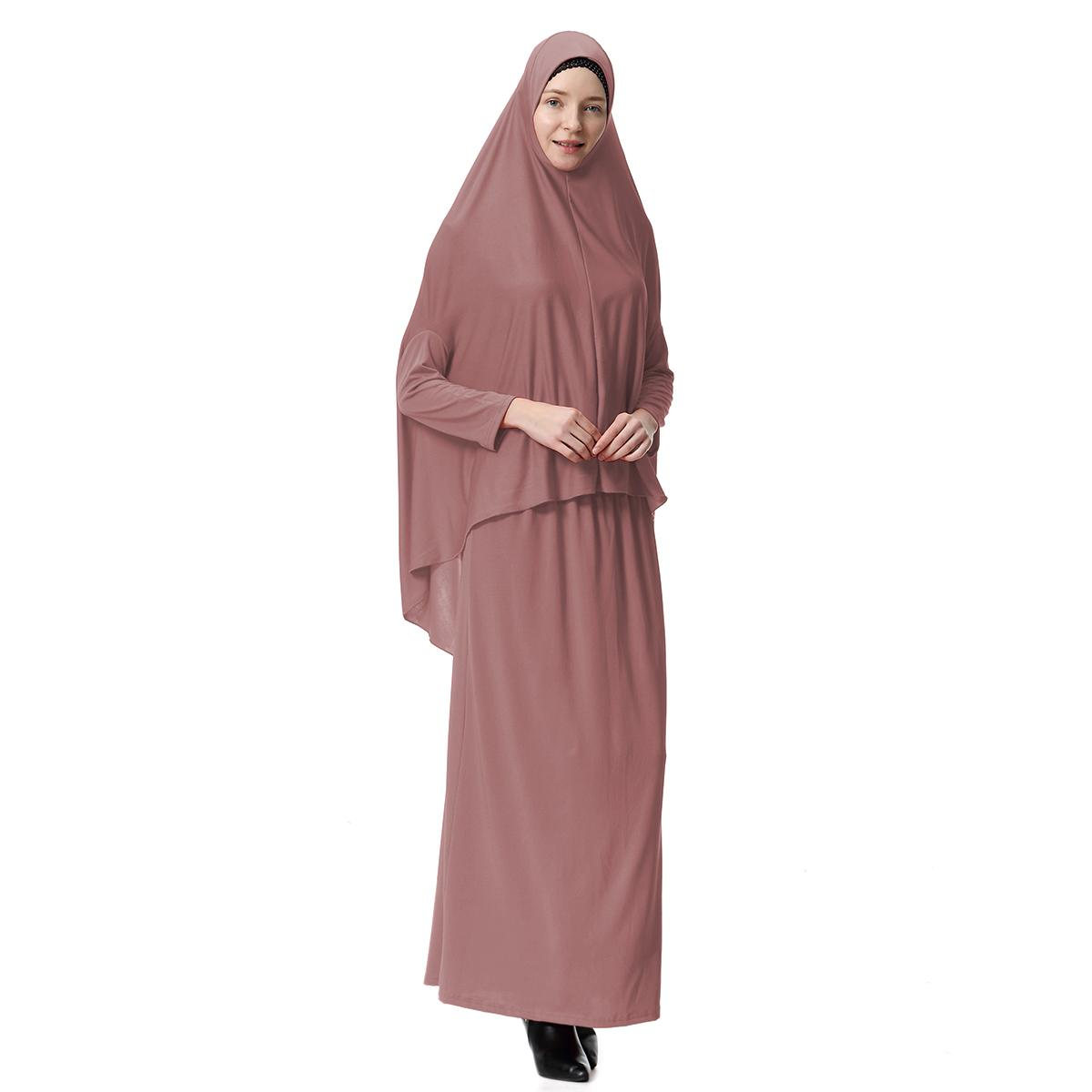 Women's Prayer Garment Clothes Set Muslim Abaya Jilbab Long Dress Arab New Hijab Skirt Islamic Clothing Middle East Dresses New