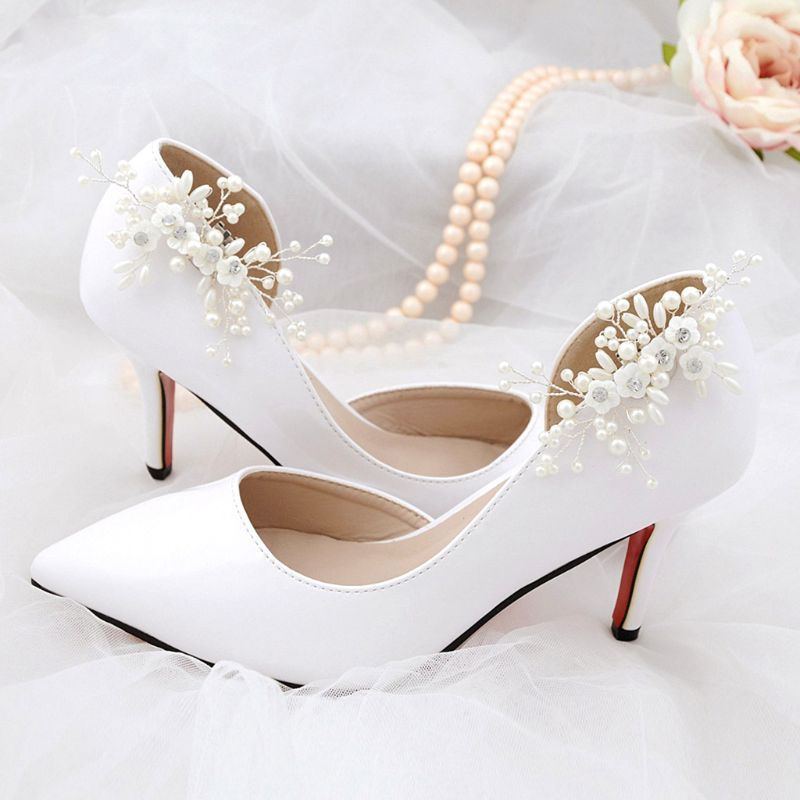 Elegant DIY High Heel Charms Decoration Shoe Clip Simulated Pearl Floral Beads Women Shoes Clips Buckle Fashion Clothing SandalsElegant DIY High Heel Charms Decoration Shoe Clip Simulated Pearl Floral Beads Women Shoes Clips Buckle Fashion Clothing Sandals