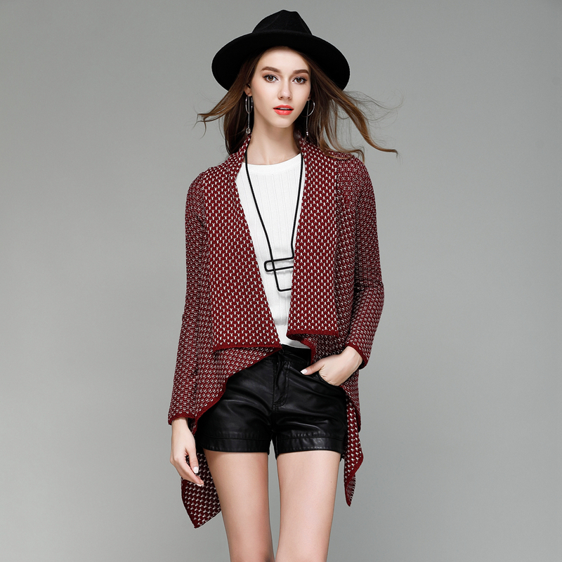 Aliexpress.com : Buy Burgundy black long sleeve houndstooth ...