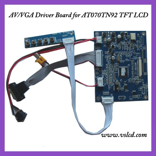 VGA+AV input signal TFT Driver board of 7inch AT070TN92  tft dispay panels VGA driver board l175d l174d driver board 491641300100r ilif 092 signal board used disassemble