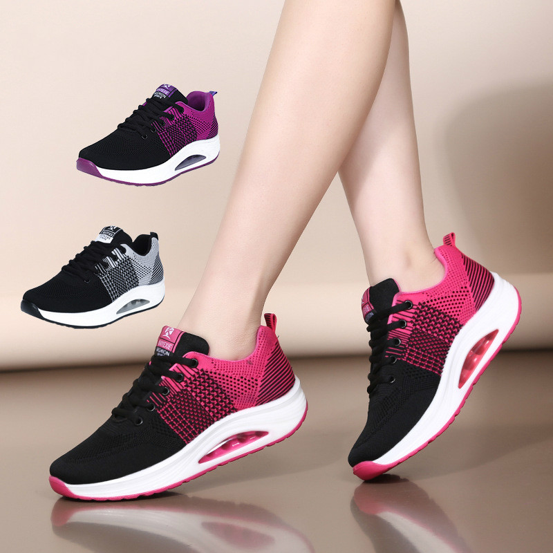 Modern Jazz Dance Sneakers Women Breathable Mesh Lace Up Practice Dancing Shoes Sports Feature Modern Dance Jazz For Woman