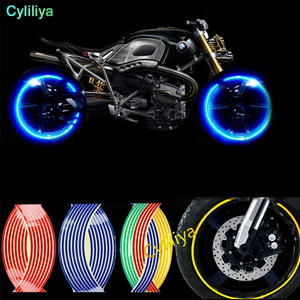 Decals Wheel-Stickers Reflective Rim-Tape Motorcycle Bike And 16pcs-Strips 14--17-18-5-Colors