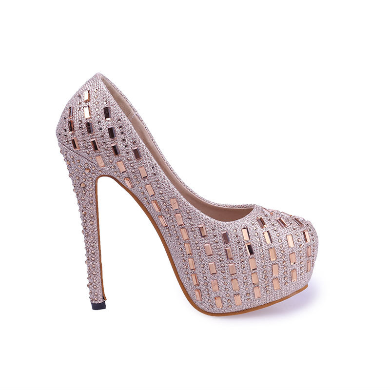 ФОТО ARMOIRE New Hot Sale Fashion Gold White Women Glitter Platform Pumps Ladies Party Shoes Super High Heels AZX077 Comfortable