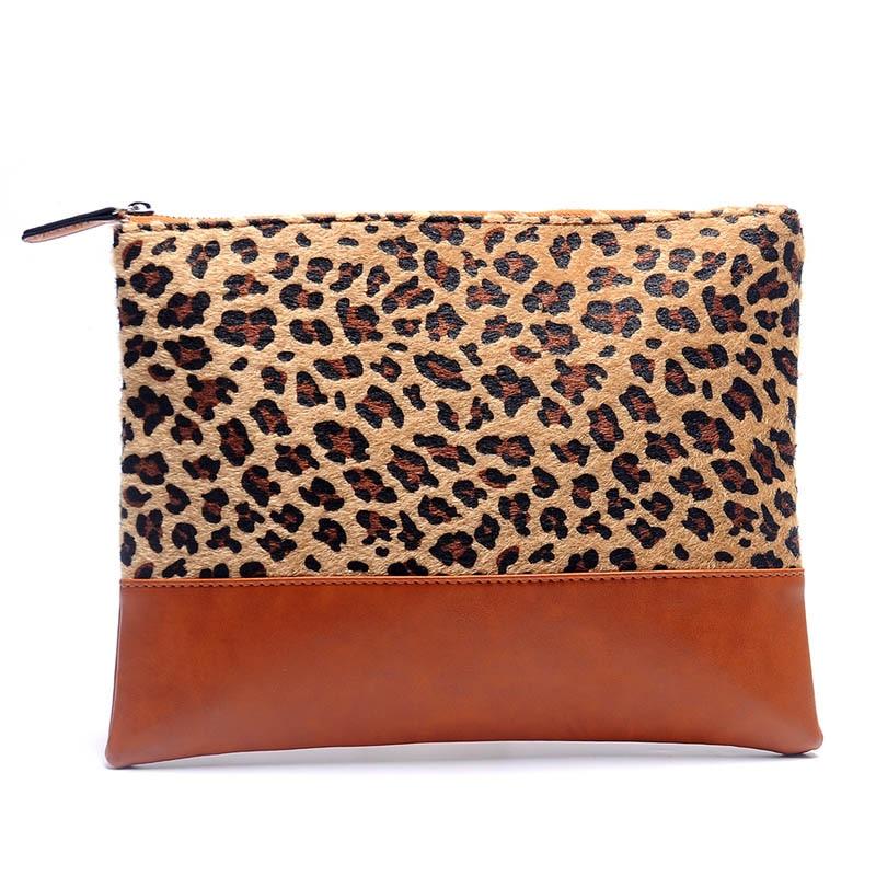 Honig Kurzhülse Haar Leoparden Handtasche Großhandel Rohlinge Leopard Patchwork Handtasche Bridemaid Geschenk Abendtasche Dom106668