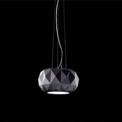 Deluxe Pendant Lights White Black Glass Pumpkin Pendant Lamp For Restaurant Living Room Suspension Lighting Fixture PL56