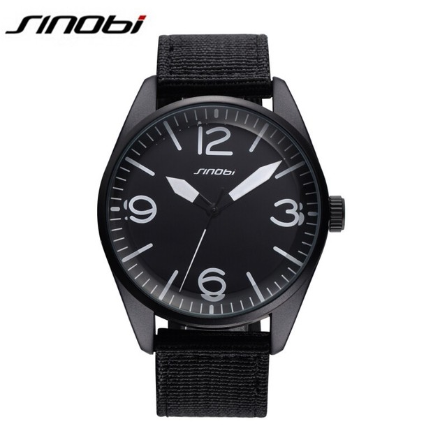 SINOBI Brand Watch Men Casual Nylon Fabric Male Watches Men Sports Military Quartz-Watch Men Watches Relojes Hombre 2016 AA350