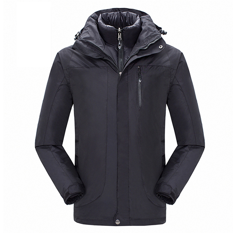 Winter Outdoor Sport Waterproof Jacket Men Hiking Coat Windstopper Snowboard Ski Jackets Cotton Padded Liner Jaqueta Masculino viishow new winter jacket men warm cotton padded coat mens casual hooded jackets handsome parka outwear men jaqueta masculino