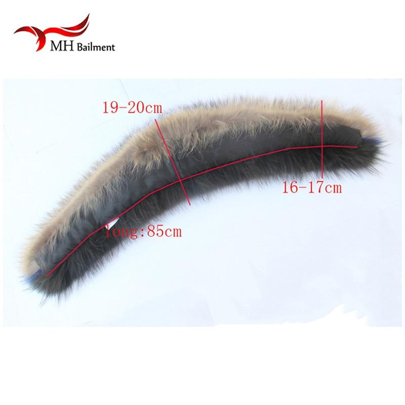 Իրական ռակկուն մորթյա օձիք ձմեռային - Հագուստի պարագաներ - Լուսանկար 6