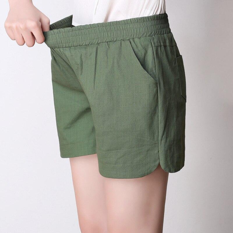 Ww 618 Summer new cotton and linen   shorts   women leisure linen thin loose   shorts