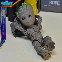 Hot Toys 1:1 Marvel Guardians of The Galaxy Groot Avengers Cute Baby Tree Man Joints Moveable BJD Action Figure Toys
