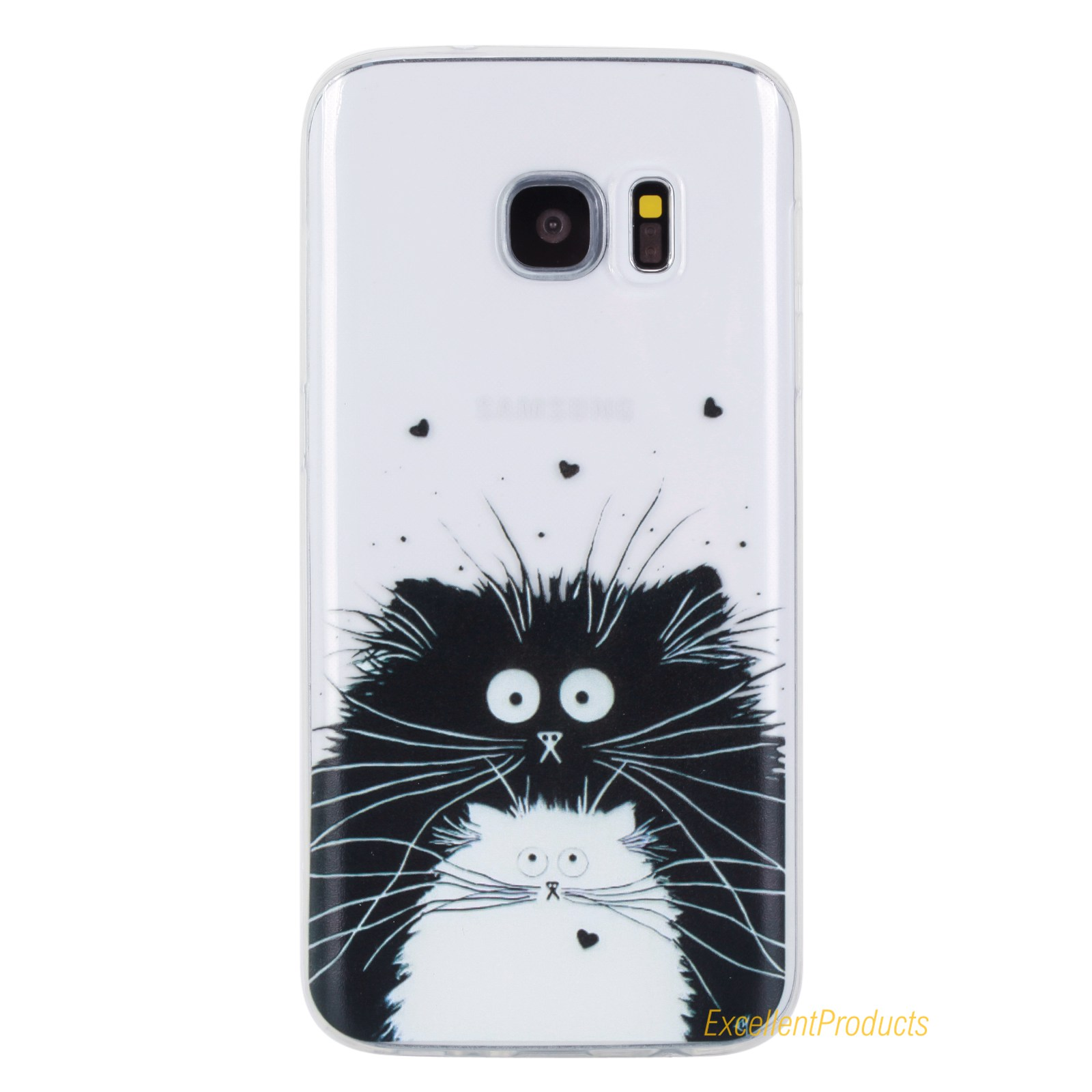 For Coque Samsung S7 Edge phone case Silicone For Fundas Samsung S 7 Edge Cover Animals Wallet Flip Phone Case