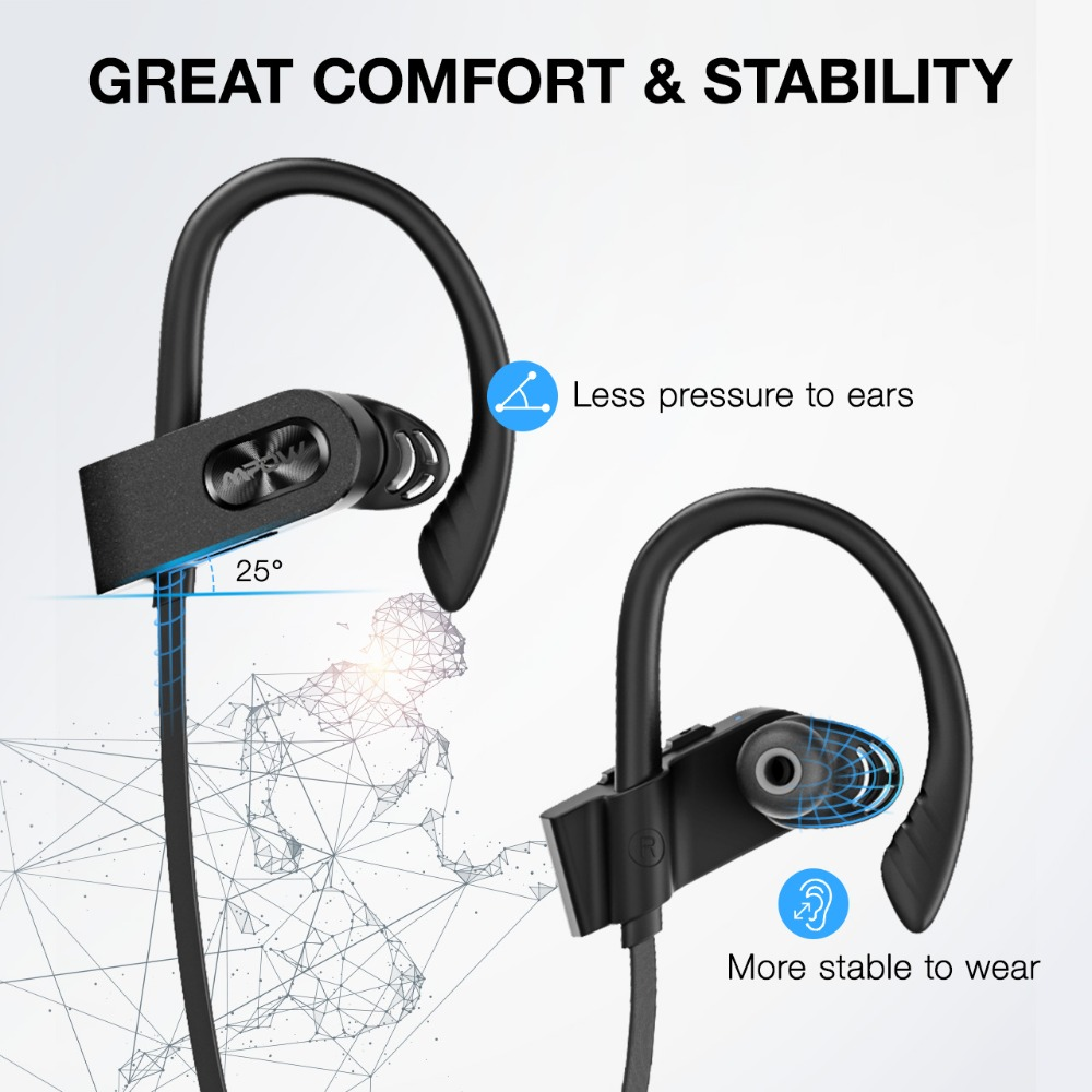 Mpow Flame2 Bluetooth Headphones with 13-Hr Playtime Bluetooth 5.0 Wireless Earbuds IPX7 Waterproof Sport Earphones for Xiaomi 6