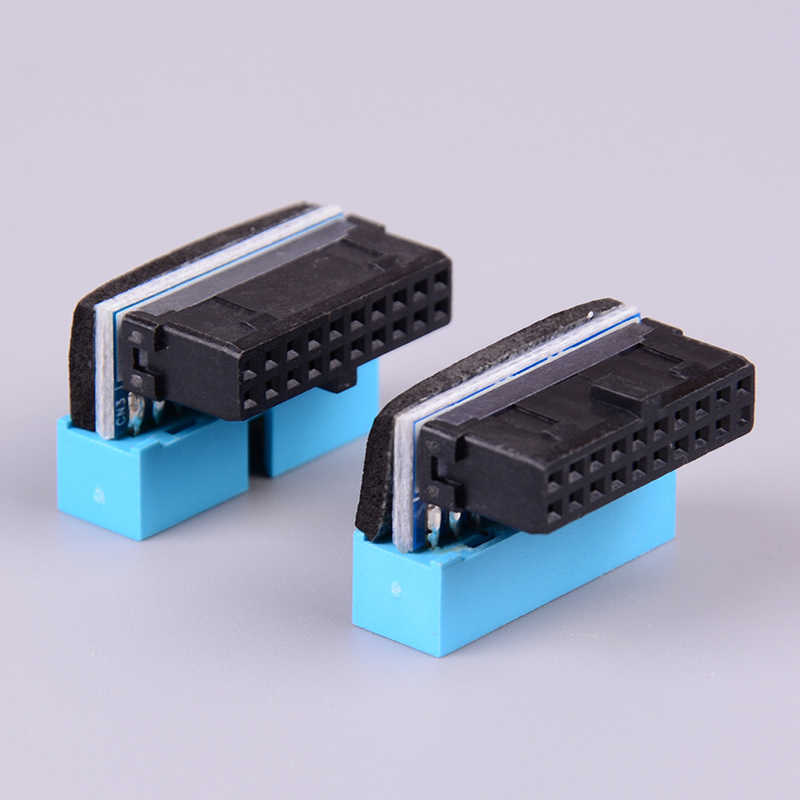 USB3.0 19P 20P Male Connector 90 Graden Moederbord Chassis Voorstoel Uitbreiding Connector
