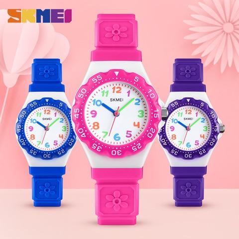 SKMEI NEW Kids Watches Outdoor Sports Wristwtatch Boys Girls Waterproof PU Wristband Quartz Children Watches 1483 reloj Karachi