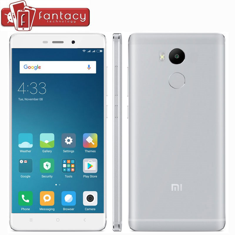 "Цена за Оригинал xiaomi redmi 4 pro простые 3 г ram 32 ГБ смартфон 4000 мАч snapdragon 625 octa core fdd lte 4 г 5 ""1920x1080 P 13MP MIUI 8.1"