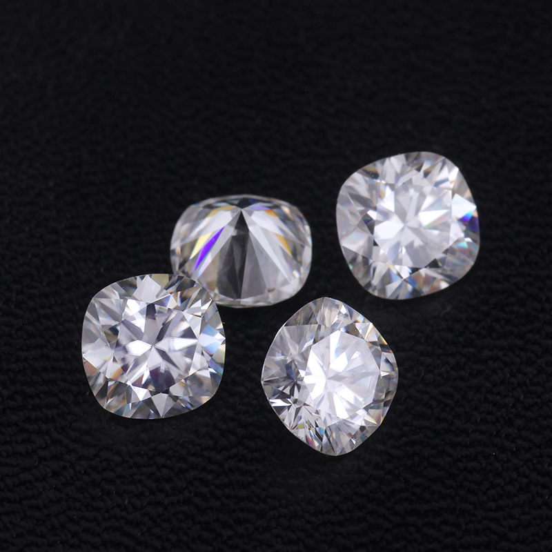 EF color 10x10mm cushion cut lab created moissanites loose gems stones stone for jewelry making more fire than diamond stones image