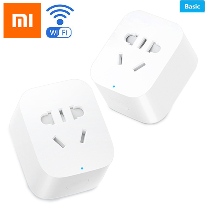 Original Xiaomi MiJia Mi Smart Power Socket Plug Basic Wireless WiFi APP Remote Control Timer Switch Powercube EU DE Adapter original xiaomi thermostatic electric kettles mi mijia 1 5l 12 hour thermostat support to control with mobile phone app