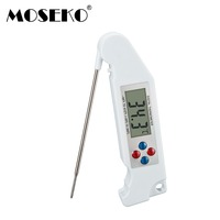 Digital LCD Folding Food Kitchen Thermometer With Backlight Voice Prompt Instant Read Cooking Tool BBQ Meat