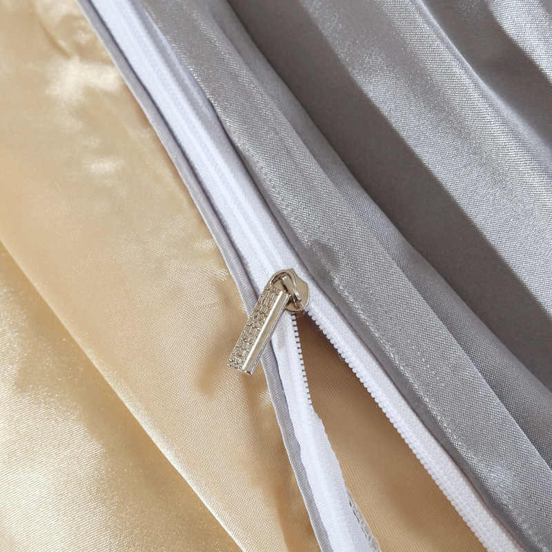 Новое поступление, Комплект постельного белья из имитированного шелка, домашний текстиль, Комплект постельного белья, одежда для постельного белья, мягкие постельные принадлежности из шелка, полный размер queen king