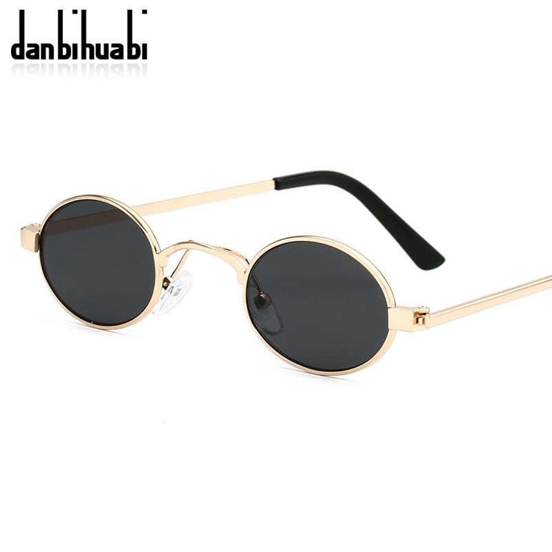 Classic Small Oval Sunglasses Women Men Steampunk Metal Frame Sun Glasses Unisex Vintage Eyewear Oval Driving UV400 Gafas De Sol