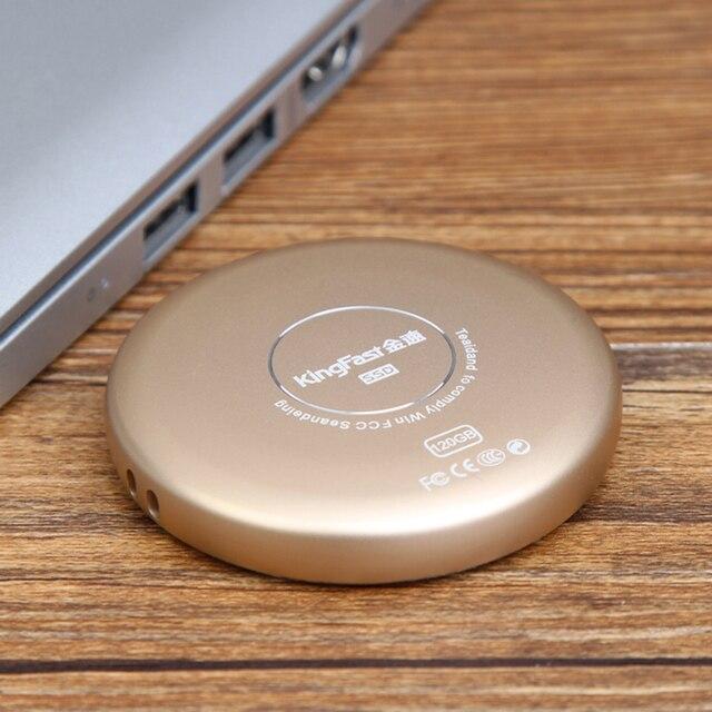 Горячие Продажи KingFast 120 ГБ Внешний Твердотельный Накопитель Золото Щепка 120 ГБ Портативный SSD Диск USB Устройств Хранения Данных Для портативных ПК