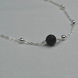 Модные мини-шарики из черной лавы, сделай сам, эфирное масло, парфюм, диффузор, ожерелье, подвески, ошейник, украшения для женщин, подарок
