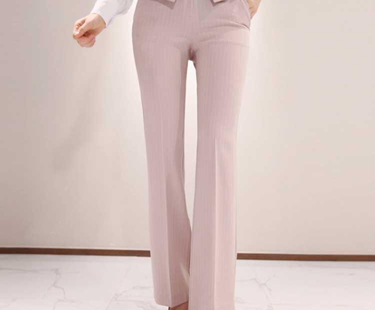 2019 formel trois pièces ensemble femmes pantalon costumes col cranté rayé Blazer veste gilet pantalon poche costume de haute qualité S95506Z - 6