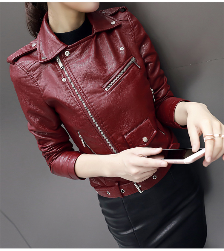 HTB1l5MJpXGWBuNjy0Fbq6z4sXXaf Aelegantmis Autumn New Short Faux Soft Leather Jacket Women Fashion Zipper Motorcycle PU Leather Jacket Ladies Basic Street Coat
