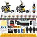Principiante Completo Kit de Tatuaje de arranque Kit de Tatuaje Profesional Rotary Machine Guns 54 Tintas de Alimentación Aguja Grips TK260